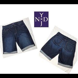NYDJ Size 6P Denim Shorts with Cuff
